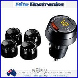 Steelmate Tp-70 Diy Wireless Tpms Tyre Pressure Monitoring System 4 Sensors Blk