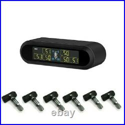 TPMS Car Solar Wireless Tire Pressure Monitoring System With 6 Internal Sensors