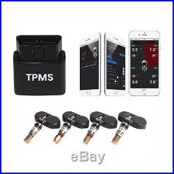 TPMS Car Tire Pressure Monitor Internal Sensor OBD Interface Bluetooth control