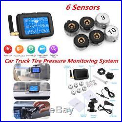 TPMS LCD Display Car Truck Wireless Tire Pressure Monitoring System6 Sensor Kit