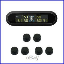 TPMS LCD Solar Engery Tire Pressure Gauge Monitor 6 External Sensors MA1885