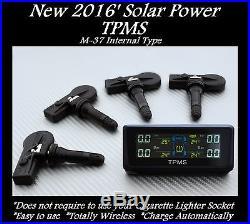Tpms Solar Power Tire Pressure Monitor + 4 Sensor Fit For Oe Lexus Es Gs Honda