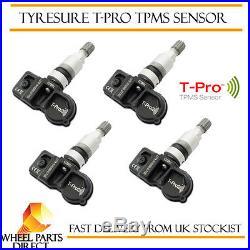 TPMS Sensors (4) TyreSure T-Pro Tyre Pressure Valve for BMW X3 F25 10-16