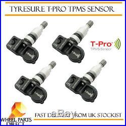 TPMS Sensors (4) TyreSure T-Pro Tyre Pressure Valve for VW Passat B7 10-14