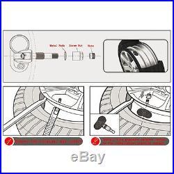 TPMS Solar Car Tire Pressure Monitoring 4 Internal Sensors HD Colorful LCD