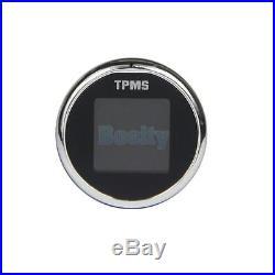 TPMS Tire Pressure LCD Display Monitoring System Wireless 4 External Sensors