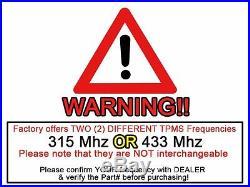 TPMS Tire Pressure Monitor Sensor 0025408017 Mercedes W211 W164 W221 X164 433Mhz
