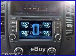 TPMS Tire Pressure Monitor System 4 Sensors Displayed DVD Video Monitor Internal