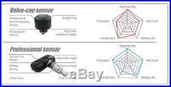 -TPMS Tire Pressure Monitor System 6 External Cap 22 Sensors DVD Video Car TPMS