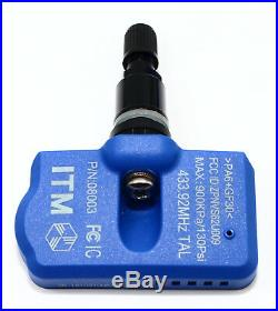 TPMS Tire Pressure Sensor System 433mhz BMW E90 E92 Gloss Black Valve Stem
