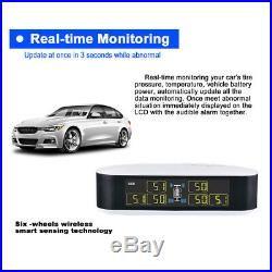 TPMS Tire Tyre Pressure Monitor System 6 External Sensors For RV Truck MA1996