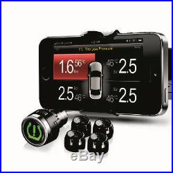 TPMS Tire Tyre Pressure Monitoring System DIY for iphone Android Phone 4 Sensors