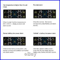 TPMS Tire Tyre Pressure Monitoring System LCD with 4 Internal Sensor for Car Auto