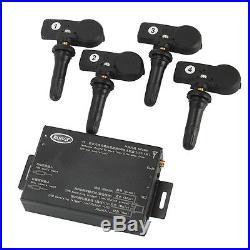 TPMS Tire Tyre Pressure Monitoring System Valve set 4 sensors Displayed on DVD