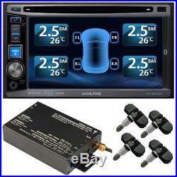 TPMS Tyre Pressure Monitor System 4 Internal Valve 22 Sensors DVD Video Camera