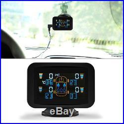 TPMS Tyre Pressure Monitoring Intelligent System+4 External Sensors LCD Sucker