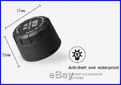 TPMS Tyre Pressure Monitoring System Solar Wireless Power 4x External Sensors