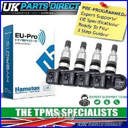 TPMS Tyre Pressure Sensors for BMW 5 Series (14-16) (F10/F11) SET OF 4 CODED