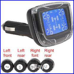 TPMS Wireless 4 Sensors Tire Pressure Monitoring System with LCD Display