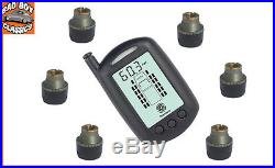 TPMS Wireless Tyre Pressure Monitor System 6 Sensors DAF, MERCEDES, IVECO etc