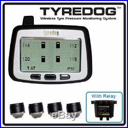 TYREDOG TD2000 4 Wheel Sensor Tire Pressure Monitor for Van, and Truck