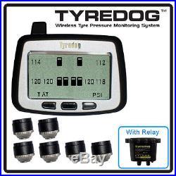 TYREDOG TPMS 6 Cap Sensor Tire Pressure Monitor RV, Trucks USA FREE SHIPPING