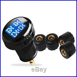 Tire Pressure LCD Display Monitoring System Wireless 4 Sensors TPMS Fit For Car