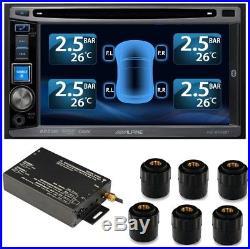 /Tire Pressure Monitor System TPMS 6 External Cap 22 Sensors DVD Video Car TPMS