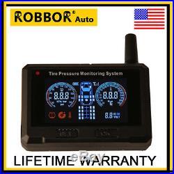 Tire Pressure Monitor TPMS 6 Sensors Trailers, RV Tire Pressure Monioring system