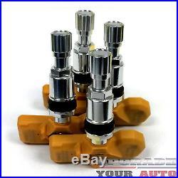 Tire Pressure Sensor Set of 4 TPMS For 2007-2014 Toyota Tacoma (Alloy wheels)