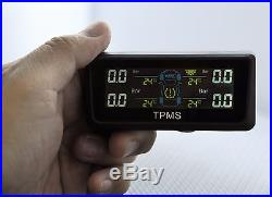 Tpms Solar Power Tire Pressure Monitor + 4 Sensors Fit Oem Hyundai Infiniti Ford