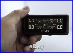 Tpms Solar Power Tire Pressure Monitor + 4 Sensors Fits Oem Gm Buick Cadillac