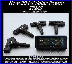 Tpms Solar Power Tire Pressure Monitor + 4 Sensors Fits Oem Nissan Subaru