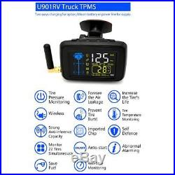 Trucks TPMS Car Wireless Tire Pressure Monitoring System 6 Wheel External Sensor
