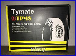 Tymate Tire Pressure Monitoring System for RV Trailer Solar Charge 5 Alarm Modes