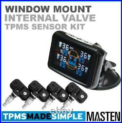 -Tyre Pressure Monitoring System LCD TPMS Internal Valve Sensors x 4 Car, Caravan