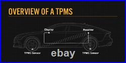 Tyre Pressure Monitoring System Reverse External Cap Sensors For Caravan Truck