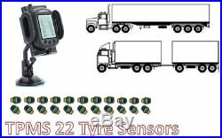 Tyre Pressure Monitoring System for TRUCK 22 tyre sensors