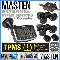 Tyre Pressure TPMS 3.5 Monitoring System Heavy Duty External Sensors x 10 Truck