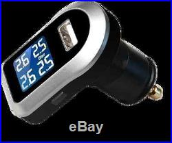 -Tyre Tire Pressure Monitoring System LCD TPMS 4 External Sensors Wireless Cars