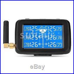 U901 TPMS Car Truck Tire Pressure Monitor System + 6 External Sensors LCD Displa