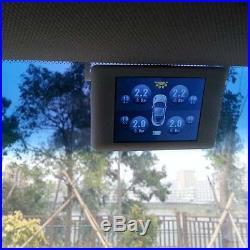 US Set Solar Charge Wireless TPMS Tire Pressure Monitor System+4 External Sensor