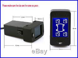 US Wireless TPMS Tire Pressure Monitor System+4 Sensors LCD Display For Honda