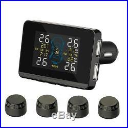 Universal Auto Wireless TPMS Tire Pressure Monitoring System & 4 External Sensor