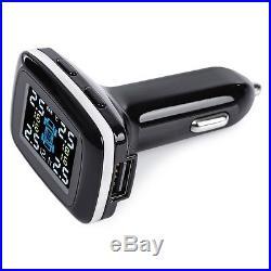 Universal Car Cigarette Lighter TPMS Tire Pressure Temp Monitor System+4 Sensors