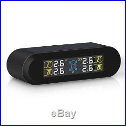 Universal Car TPMS Tire Pressure Monitor System+4 Internal Sensors Solar Power
