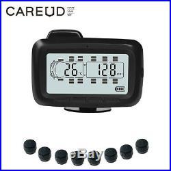 Universal Digital TPMS Tire Pressure Monitor System 8 Sensors + Repeater For RV