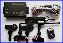 Universal LCD Display TPMS Tire Pressure Monitor System with internal 4 Sensors
