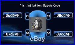 Universal TPMS Tire Pressure Monitor System with 4 Sensors Displayed on Your DVD