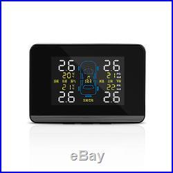 Universal TPMS Tire Pressure Monitoring System+4 Internal Sensors LCD Display